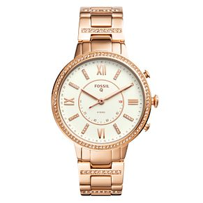 Fossil Q Ladies' Rose Gold Plated Hybrid Smartwatch - Product number 4170296