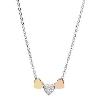 Fossil Heart Ladies' Tri-Tone Stainless Steel Necklace - Product number 4170660