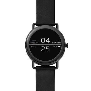 Skagen Connected Falster Men's Black Leather Smartwatch - Product number 4170679