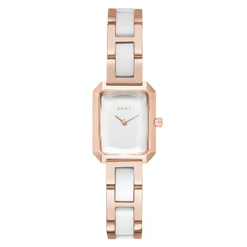 DKNY Cityspire Ladies' Gold-Tone & White Ceramic Watch - Product number 4171624