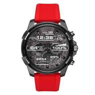 Diesel On Full Guard Men's Red Silicone Strap Watch - Product number 4171691