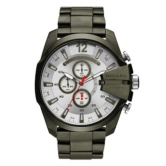 Diesel Mega Chief Men's Green Ion Plated Watch - Product number 4171748