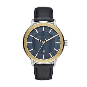 Armani Exchange Maddox Men's Blue Leather Strap Watch - Product number 4172906