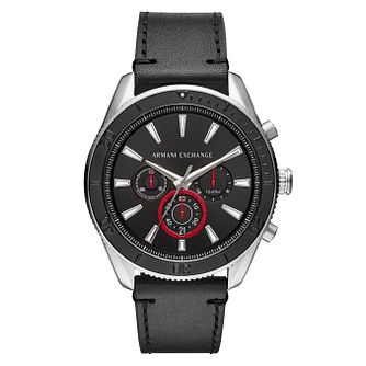 Armani Exchange Enzo Men's Black Leather Strap Watch - Product number 4172949