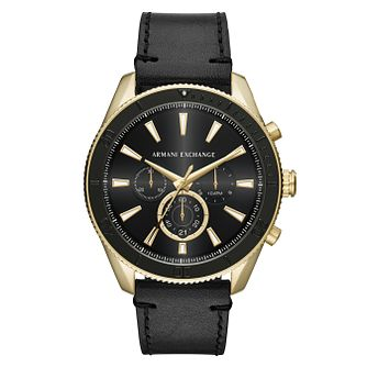 Armani Exchange Enzo Men's Black Leather Strap Watch - Product number 4172957