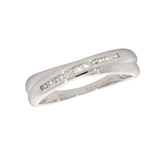 18ct white gold diamond wedding ring - Product number 4173236