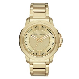 Armani Exchange Ryder Men's Gold Tone Bracelet Watch - Product number 4173384