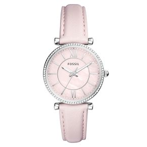 Fossil Ladies' Pink Leather Strap Watch - Product number 4173538