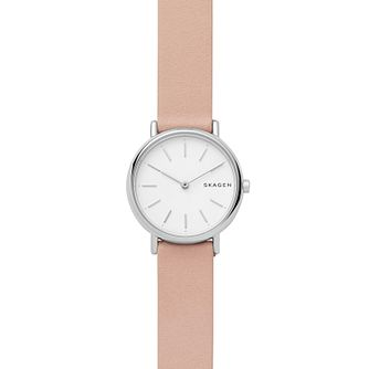 Skagen Signatur Slim Ladies' Blush Leather Strap Watch - Product number 4173937