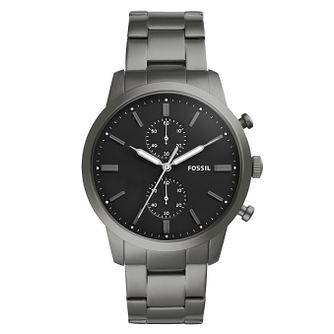 Fossil Townsman Men's Grey Stainless Steel Bracelet Watch - Product number 4177398