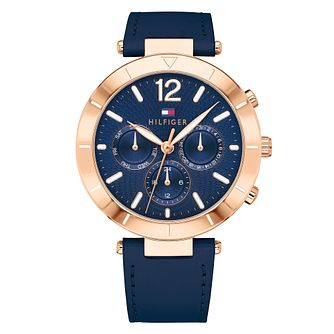 Tommy Hilfiger Ladies' Navy Leather Strap Watch - Product number 4178076