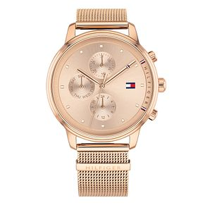 Tommy Hilfiger Ladies' Rose Gold Plated Mesh Bracelet Watch - Product number 4178092