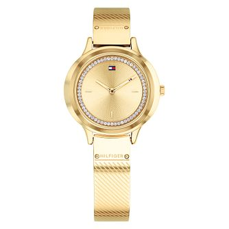 Tommy Hilfiger Ladies' Gold Ion Plated Bangle Watch - Product number 4178122