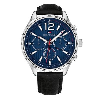 Tommy Hilfiger Men's Black Leather Strap Watch - Product number 4178181