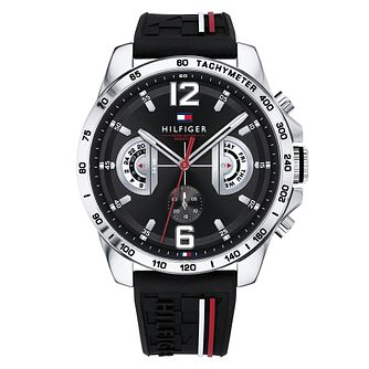 Tommy Hilfiger Decker Men's Black Silicone Strap Watch - Product number 4178238