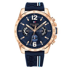 Tommy Hilfiger Men's Blue Silicone Strap Watch - Product number 4178246