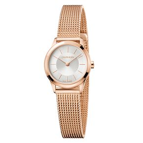 Calvin Klein Minimal Ladies' Rose Gold PVD Mesh Strap Watch - Product number 4178556