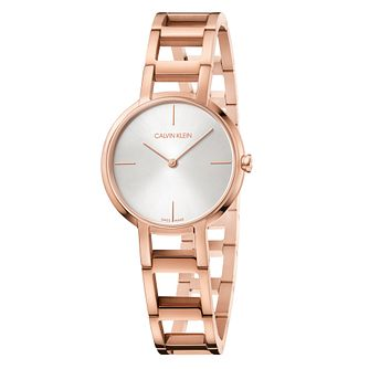 Calvin Klein Cheers Ladies' Rose Gold PVD Bracelet Watch - Product number 4178629