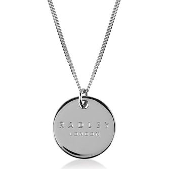 Radley London Sterling Silver Logo Disc Pendant - Product number 4180216