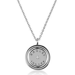 Radley London Silver Cubic Zirconia Dog Flip Coin Pendant - Product number 4180275