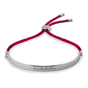 Radley London Sterling Silver & Red Rope Adjustable Bracelet - Product number 4180364