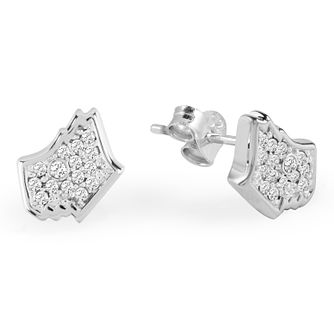Radley London Silver Cubic Zirconia Dog Head Stud Earrings - Product number 4180380