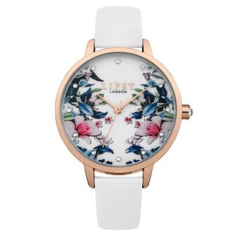 Lipsy Ladies' White Strap Watch - Product number 4181328