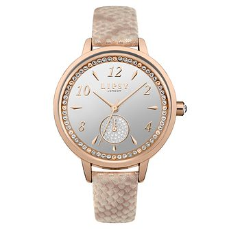 Lipsy Ladies' Pink Metallic Strap Watch - Product number 4181379