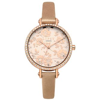 Lipsy Ladies' Rose Gold Strap Watch - Product number 4181387