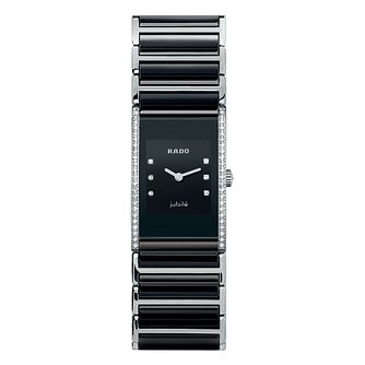 Rado Ladies' Stone Set Two Colour Black Bracelet Watch - Product number 4183185