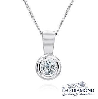 Leo Diamond 18ct White Gold 0.20ct I-I1 Pendant - Product number 4183304