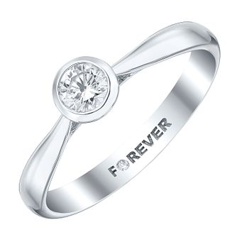18ct White Gold 1/3 Carat Forever Diamond Ring - Product number 4186176