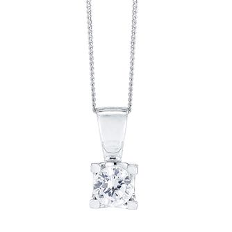 18ct White Gold 1/2 Carat Forever Diamond Pendant - Product number 4188136