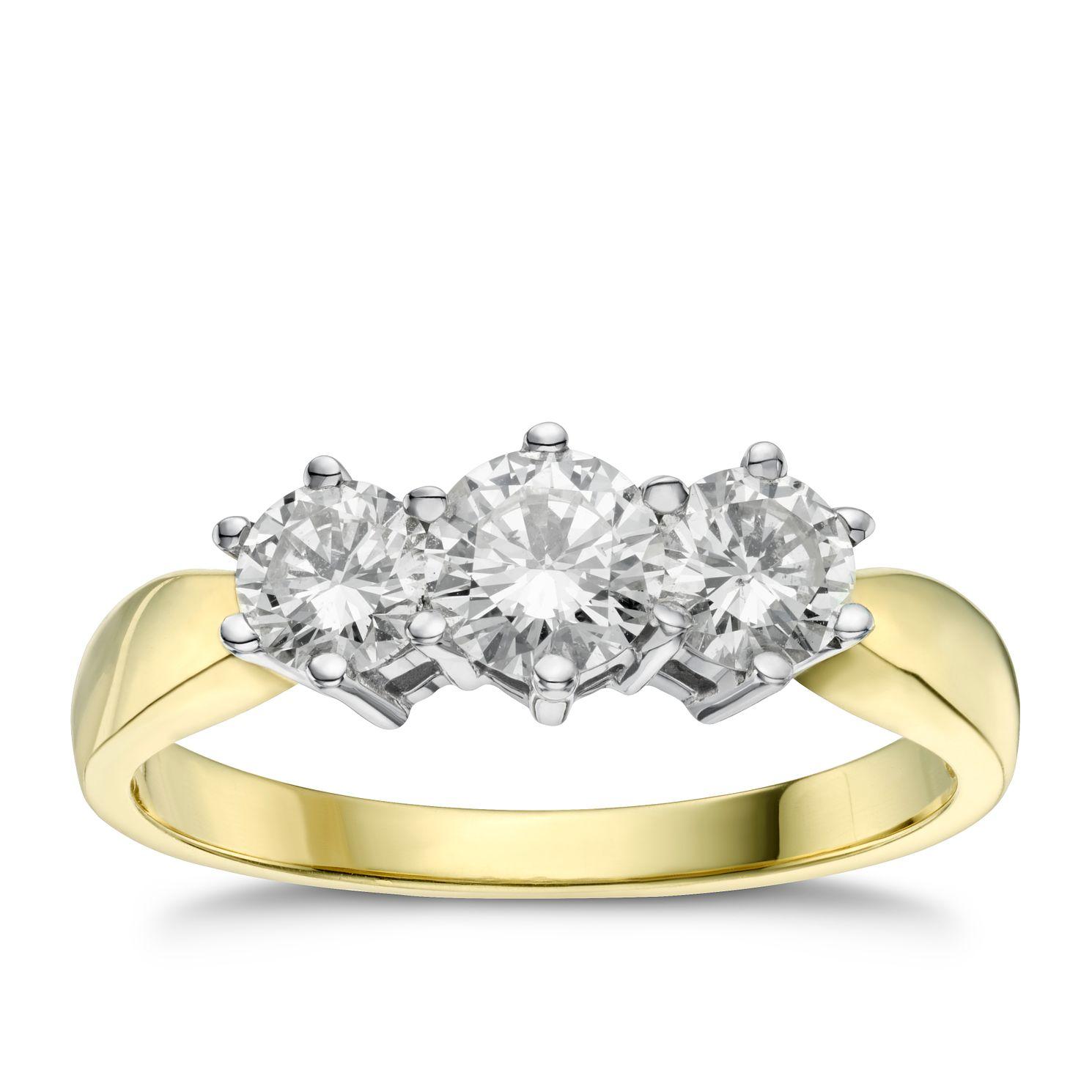 Three Stone Engagement Rings - Diamond Rings - Ernest Jones