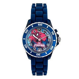 Spiderman Children's Flashing Blue Strap Watch - Product number 4219112