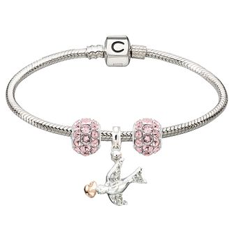 Chamilia Sterling Silver Pink Splendor & Dove Bead Bracelet - Product number 4219309
