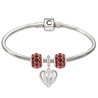 Chamilia Red Splendor & Forever Charm & Bracelet Gift Set - Product number 4219317