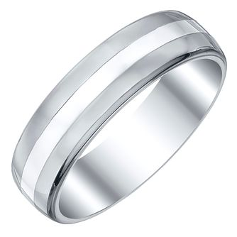 Men's Tungsten and Silver 6mm Ring - Product number 4222415