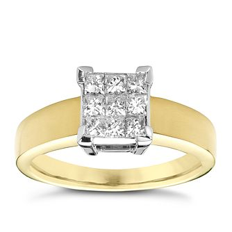 18ct gold 0.50ct princess cut diamond ring - Product number 4227859