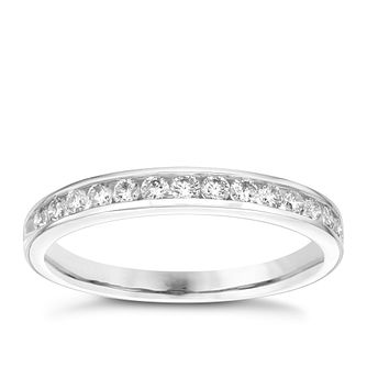 Platinum 0.33 carat diamond half-eternity ring - Product number 4228642