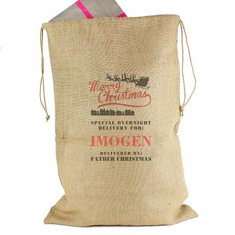 "Personalised ""Merry Christmas"" Hessian Sack - Product number 4229800"