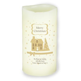 Personalised Festive Village LED Candle - Product number 4229835