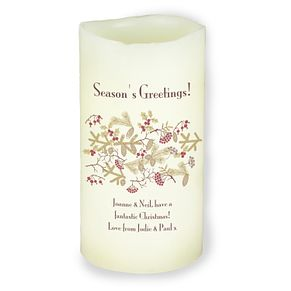 Personalised Christmas Floral LED Candle - Product number 4229878