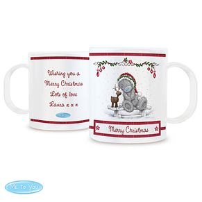 Personalised Me To You Christmas Reindeer Plastic Mug - Product number 4229908