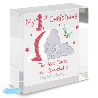 Personalised Me To You 1st Christmas Medium Crystal Token - Product number 4229991