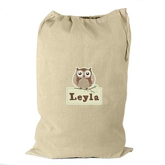 Personalised Woodland Owl Cotton Sack - Product number 4230159