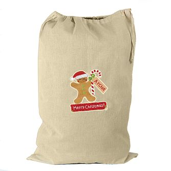 Personalised Gingerbread Man Cotton Sack - Product number 4230167