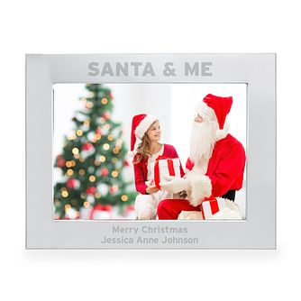 Engraved Santa & Me 5x7 Landscape Photo Frame - Product number 4230191