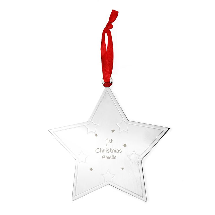 Engraved 1st Christmas Star Tree Decoration - Product number 4230221
