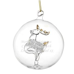 Engraved Glass Reindeer Bauble - Product number 4230264